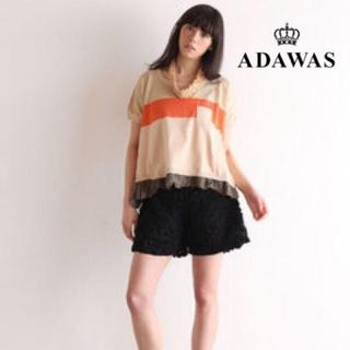 アダワス(ADAWAS)のADAWAS  ショートスリーブ ボーダーニット Mixture Stripe(ニット/セーター)
