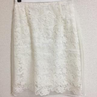 アールディールージュディアマン(RD Rouge Diamant)の美品 RDシースルー レースタイト スカート(ひざ丈スカート)