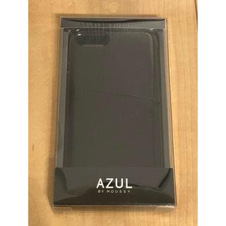 アズールバイマウジー(AZUL by moussy)のAZUL アズール iPhoneケース iPhoneカバー ブラック エナメル(iPhoneケース)