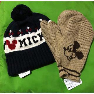 ディズニー(Disney)のニット帽 手袋(手袋)
