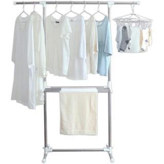 アイリスオーヤマ 洗濯物干し 室内物干し 幅約79~120×奥行約53×高さ約9(電話台/ファックス台)