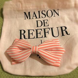メゾンドリーファー(Maison de Reefur)のメゾンドリーファー 新品リボンヘアピン ミニショッパー付き(ヘアピン)