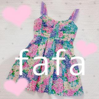 フェフェ(fafa)の新品💕マルチフラワー💕最安値💕フォロワー様2000名様記念💕(ミニワンピース)