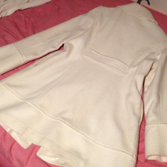 Rew de Rew 白ロングコート レディースのジャケット/アウター(ロングコート)の商品写真