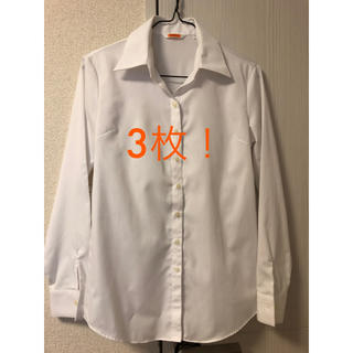 パーソンズ(PERSON'S)の3枚 シャツ ブラウス 白 7号 9号 スーツ 就活(シャツ/ブラウス(長袖/七分))