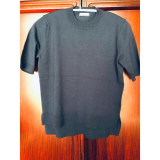 アドーア(ADORE)のADOREアドーア 1回着用美品 ネイビー半袖プルオーバー(ニット/セーター)