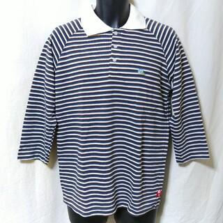 エバーラスティングライド(EVERLASTINGRIDE)のEVERLASTINGRIDE 七分袖 ボーダー ポロシャツ 未使用品(ポロシャツ)