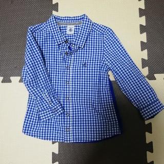 プチバトー(PETIT BATEAU)のプチバトー♡チェックシャツ(ブラウス)