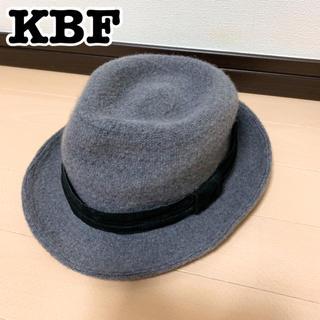 ケービーエフ(KBF)のKBF♡ウール素材ハット 帽子 グレー オシャレ(ハット)
