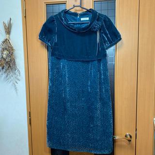 エニィスィス(anySiS)の【美品】any SiS 半袖 ワンピース ドレス フォーマル (ミディアムドレス)