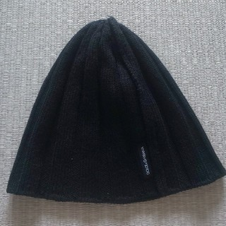 ドルチェアンドガッバーナ(DOLCE&GABBANA)のDOLCE&GABBANA ビーニー 黒 フリー(ニット帽/ビーニー)