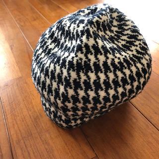 ザラ(ZARA)の千鳥柄ニット帽(ニット帽/ビーニー)