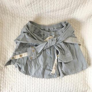 カロリナグレイサー(CAROLINA GLASER)のカロリナグレイサー  デニムシャツスカート(ミニスカート)