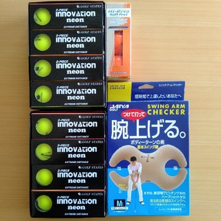 ダンロップ(DUNLOP)の【値下げ】ゴルフボール27個+スイングアームチェッカー(その他)