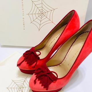【新品】シャーロットオリンピア ピンヒール 【38】靴 イタリア製(ハイヒール/パンプス)