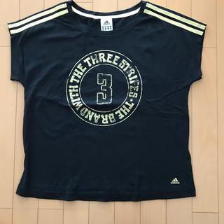 アディダス(adidas)のadidas 半袖Tシャツ レディースM 黒(Tシャツ(半袖/袖なし))