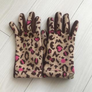 ディズニー(Disney)のミニー 手袋 ヒョウ柄(手袋)