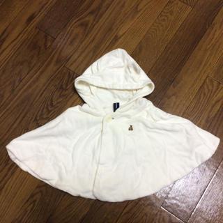 ベビーギャップ(babyGAP)のbabyGap ベビー ギャップ ポンチョ 上着 白 ホワイト(カーディガン)