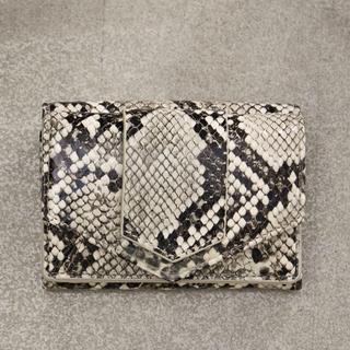 ビューティアンドユースユナイテッドアローズ(BEAUTY&YOUTH UNITED ARROWS)のハシバミ パイソンミニウォレット 蛇柄(財布)