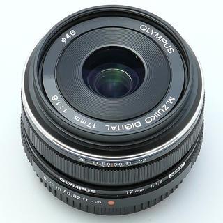 オリンパス(OLYMPUS)のオリンパス17mmf1.8ブラック(レンズ(単焦点))