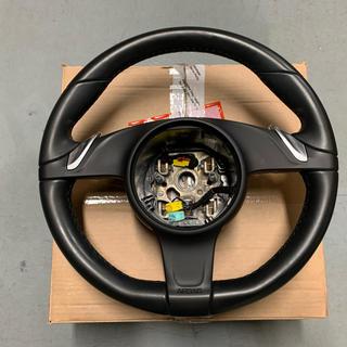 ポルシェ(Porsche)のポルシェ 純正ステアリング ブラック 991/981用(車種別パーツ)