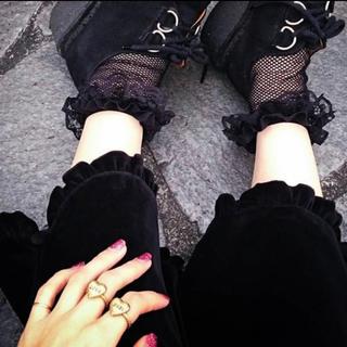ケイティー(Katie)のKatie dress in VELVET pants 黒(カジュアルパンツ)