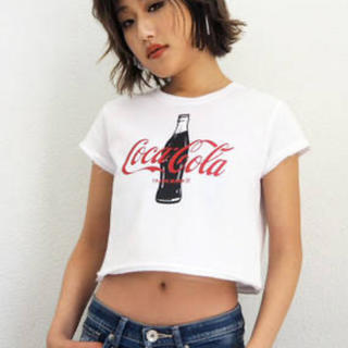 ジェイダ(GYDA)の【WEB限定】Coca-cola ショートTシャツ(Tシャツ/カットソー(半袖/袖なし))