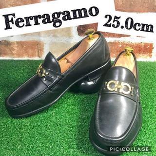 Salvatore Ferragamo - 美品☆SalvatoreFerragamo☆ 25.0cm ビットローファー 黒