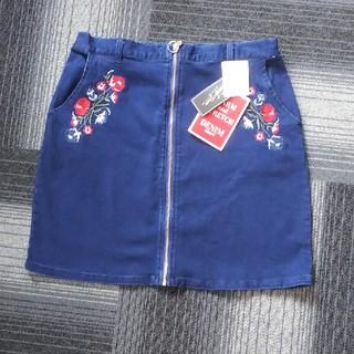 デニムスカート(4L)(ひざ丈スカート)