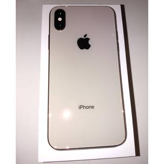 アイフォーン(iPhone)のiPhoneXs 64G gold SIMフリー 美品 iFace付き(スマートフォン本体)