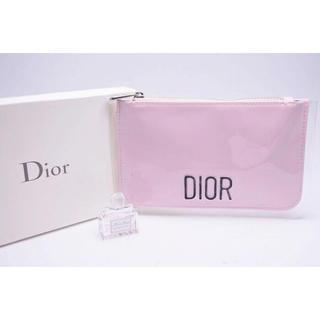 クリスチャンディオール(Christian Dior)のDior Beauty ディオール ノベルティ ロゴポーチ ピンク (ノベルティグッズ)