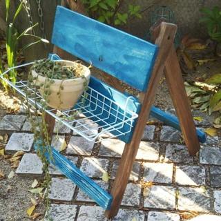ウェルカムボード 折り畳み式 ガーデニングラック(家具)