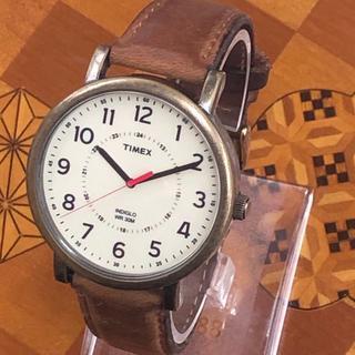 タイメックス(TIMEX)のTIMEX レトロな腕時計 革ベルト(腕時計(アナログ))