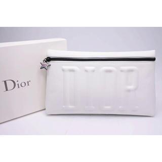 クリスチャンディオール(Christian Dior)のDior Beauty ディオール ノベルティ ロゴポーチ ホワイト(ノベルティグッズ)