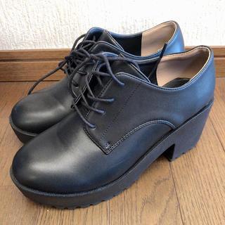 ヘザー(heather)の黒 厚底(ローファー/革靴)