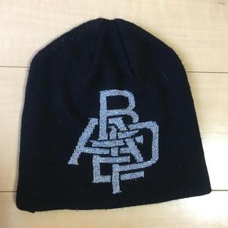 アベイシングエイプ(A BATHING APE)のニット帽 APE エイプ 黒(ニット帽/ビーニー)