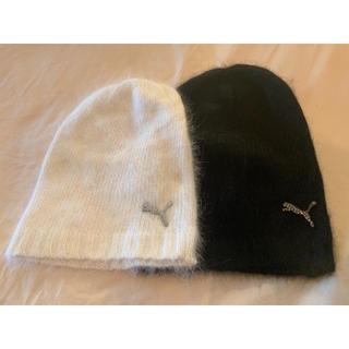 プーマ(PUMA)のPUMA ラビットファーニット帽 2色セット(ニット帽/ビーニー)