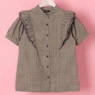 メリージェニー(merry jenny)のチェックシャツ(シャツ/ブラウス(半袖/袖なし))