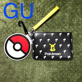 ジーユー(GU)のポケモン GU コラボ パスケース ブラック ピカチュウ(パスケース/IDカードホルダー)