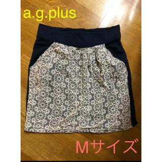 エージープラス(a.g.plus)のa.g.plus レース刺繍 ミニスカート(ミニスカート)