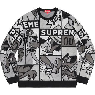 シュプリーム(Supreme)の込み supreme Cartoon Sweater XL 20ss (ニット/セーター)