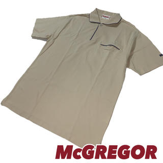 マックレガー(McGREGOR)の90'sビンテージ【McGREGOR】ポロシャツM ライトブラウン 日本製(ポロシャツ)