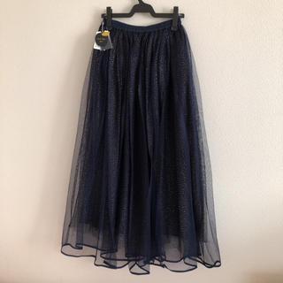 フランシュリッペ(franche lippee)の新品☆フランシュリッペブラック 星空チュールロングスカート(ロングスカート)