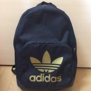 アディダス(adidas)のadidas 黒×金 バックパック(バッグパック/リュック)