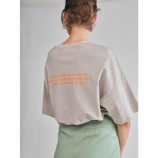 ミラオーウェン(Mila Owen)のミラオーウェン  バックプリントT タグ付き(Tシャツ(半袖/袖なし))