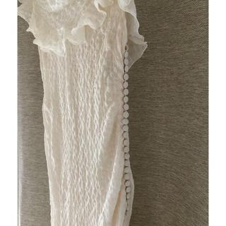 クリスチャンディオール(Christian Dior)のChristian Dior  ロングドレス オフホワイト(ロングドレス)