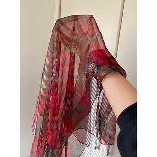ロキエ(Lochie)のvintage 花柄 フラワー スカーフ(バンダナ/スカーフ)