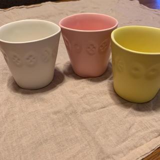 ミナペルホネン(mina perhonen)のミナペルホネン コップ3色 美品(グラス/カップ)