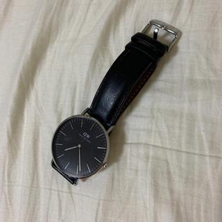 ダニエルウェリントン(Daniel Wellington)のダニエル ウェリントン 時計 黒(腕時計(アナログ))