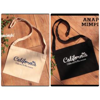 アナップ(ANAP)のANAP californiaプリントサコッシュバッグ 2点セット(ショルダーバッグ)